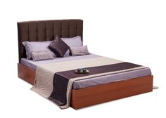 Apollo is a stylish & pleasant designed Bed provided with a fabricated upholstered headboard. The bed made of high quality Pre laminated particle board inside & outside adds to bed excellent finish to the bed.