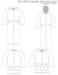 Fix it All Coveralls and Coat PDF Sewing Pattern | Etsy Pdf Sewing Patterns, Dress Patterns, Possible Combinations, Star Wars Costumes, Perfect For Me, Mandarin Collar, Color Blocking, Coloring Pages, To My Daughter
