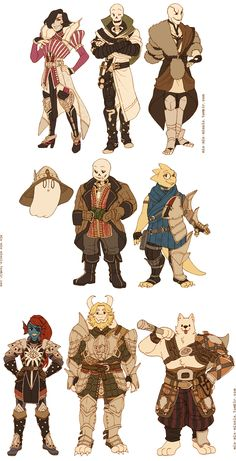 companions of inquisitor frisk! in the order of mages, rogues, and warriors :D frisk themselves is a rogue, although if they can, they use their stealth abilities to avoid/flee from battles lol tbh i did this crossover to draw ut characters in dai clothes, but actually drawing the armor… it was fun but just lay me down to rest……