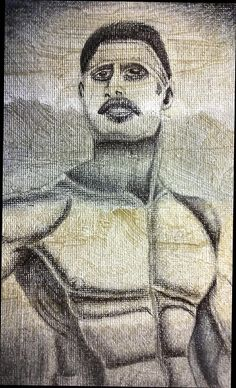 Prison Art Gallery Drawing - El Vato  The Man by Donald C-Note Hooker black art, african american art, prison art, prison art gallery, prison art for sale, neo jim crow art, new jim crow art,
