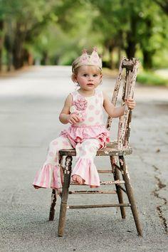 Mustard Pie Pink Emma Romper Preorder3 to 24 Months