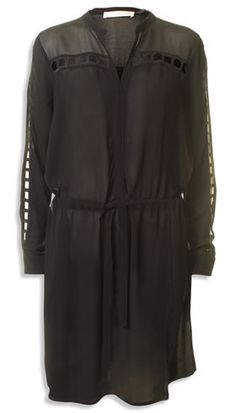 Pieszak - New Sisse Dress - Sort feminin kjole med grov smuk blonde - GOT TO HAVE IT Webshop - Nyt, Unikt og Utraditionelt Designertøj