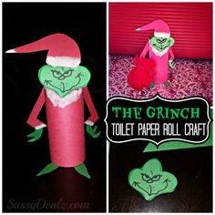 DIY The Grinch Toilet Paper Roll Christmas Craft For Kids | SassyDealz.com