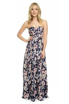 Shop Dove & Dahlia Bridesmaid Dress - Charlotte Print in Poly Charmeuse at Weddington Way. Find the perfect made-to-order bridesmaid dresses for your bridal party in your favorite color, style and fabric at Weddington Way.