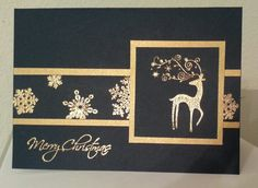 Dasher card - gold embossing