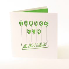 Thanks Card - Laser Cut Card - Greeting Card - Birthday Card - Laser Cut - Invitation - Laser Cut Invitation - Thank You Card door madebyloveaustralia op Etsy https://www.etsy.com/nl/listing/211582385/thanks-card-laser-cut-card-greeting-card