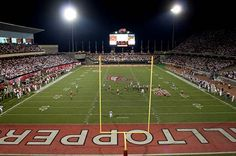 WKU - Western Kentucky University Hilltoppers - football stadium view from end zone