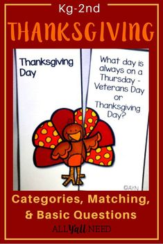 Thanksgiving for Speech & Language Therapy – Younger Elementary Thanksgiving for S & L Therapy: Contains activities for speech and language therapy or IEP goals and objectives. Includes: A list of Thanksgiving book suggestions Thanksgiving Words, Thanksgiving Activities, Speech Language Pathology, Speech And Language, Language Arts, Speech Therapy Activities, Language Activities, Receptive Language, Book Suggestions