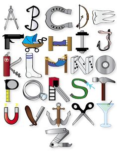 1000 images about alphabet on Hand Lettering Alphabet, Alphabet Book, Different Alphabets, Alphabet Photography, Kids Canvas Art, Photo Letters, Object Drawing, Cute Coloring Pages, Name Art