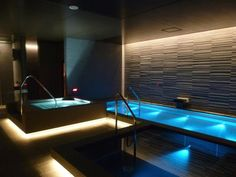Spa, The Jexer Tokyo _ design layout day spas Best Inspiration Window Indoor Swimming Pool Design Ideas with Pictures Jacuzzi, Swimming Pool Lights, Swimming Pool Designs, Lap Swimming, Indoor Pools, Lap Pools, Backyard Pools, Pool Decks, Pool Landscaping
