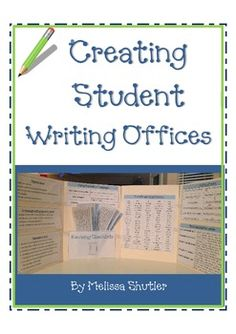 Creating Student Writing Offices- All the materials you need to create a mini-office for your students for writing.  Types of writing, sight words for grades 3 and 4, editing marks, revising checklists, descriptive words