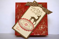 Designed by maryross: Ideas para tarjetas navideñas. Christmas card ideas, made with dasher and christmas punch sets from stampin up