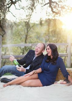 Champagne engagement pictures