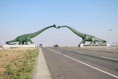 """Erenhot, a city located in the Gobi Desert area of Chinese Inner Mongolia Autonomous Region close to the Mongolian Border is known as """"Dinosaur City"""" because of the discovery of a number of different dinosaurs in its vicinity."""