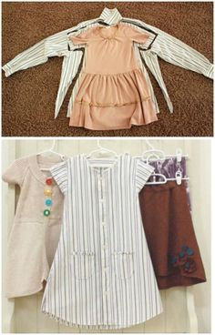 Most up-to-date Totally Free sewing dresses for little girls Popular Repurpose Old Shirts into tops How to Turn Men Shirt into Girls Dress Diy Clothes Refashion, Shirt Refashion, Diy Shirt, Diy Clothing, Sewing Clothes, Diy Tank, Refashioning Clothes, Sewing Patterns Free, Free Sewing