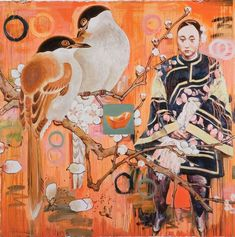 """Untitled (from """"Seven Poses"""" series) by Hung Liu. (National Museum of Women in the Arts/Gift of the Greater Kansas City Area Committee of the National Museum of Women in the Arts)"""