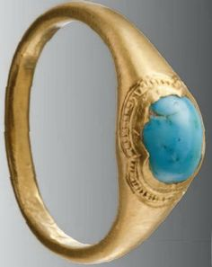 Gold ring 14th-15th century Europe.