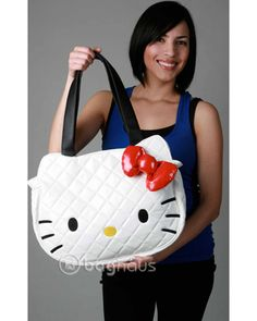 Giant Hello Kitty bag, looks kind of like the bag I have, only on mine she is wearing shades. :)