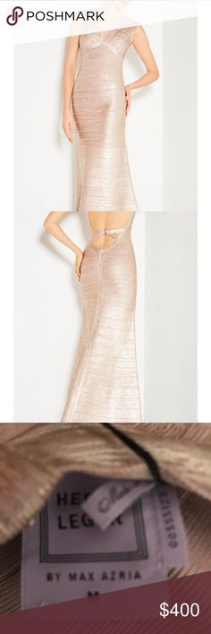 Rose gold size medium Herve ledger Brand new with tags Herve Leger Dresses Maxi