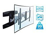 Mount-It! Full Motion TV Wall Mount, Articulating Swivel Tilt Motion for 37″ to 70″ inch LCD LED Curved Flat Panel Screens up to 99 lbs (MI-9464)   UNIVERSAL TELEVISION BRACKET. Designed to work with 37 40 42 48 50 55 60 65 70 inch TVs with adjustable VESA compatibilty up to...