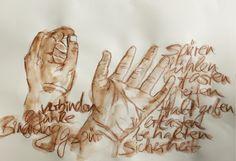 """Hände ... so vertraut und doch manchmal so wenig wahrgenommen. Wofür benutze ich sie jeden Tag, für was stehen sie. Das wird einem klar, wenn man die Hände mit der passenden Sprache verknüft: Entsteht """"begreifen"""" nicht tatsächlich oft, durch das Anfassen (=erfassen), bekomme ich nicht auch Halt durch das festhalten an etwas... Eine spannende Sinnsuche kann beginnen. Statue, Art, Old Books, Language, Art Background, Kunst, Performing Arts, Sculptures, Sculpture"""