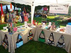 2009 Lawrence, Kansas Fall Arts and Craft Festival Vendor Displays, Craft Booth Displays, Vendor Booth, Jewelry Displays, Craft Show Booths, Craft Show Ideas, Bag Display, Display Ideas, Stall Display