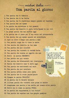 violet-archive: Una parola al giorno Writing Challenge, 30 Day Challenge, Writing Tips, Writing Prompts, Miracle Morning, Italian Language, Reading Workshop, My Mood, Self Improvement
