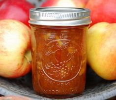 Almalekvár recept Gourmet Gifts, Winter Food, Diy Food, Chutney, Food Storage, Preserves, Mason Jars, Food And Drink, Homemade