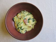 Gluten Free Travelette: Creamy Polenta with Collard Greens & Bacon