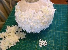 DIY Paper Lantern Light Idea! Love this and maybe I could even take and make a fall leaf one!