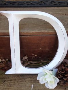 Wall Decor Large Letter Shabby Chic Wall Decor  by LaBellasCottage, $21.95