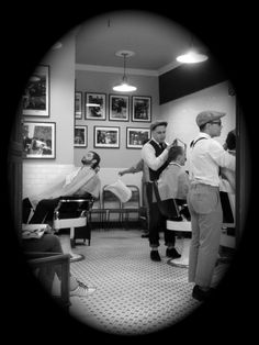 Very cool, very vintage barber shop in NYC.