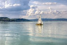 Stock Photo : Lake Balaton - sailboat with the Tihany abbey (hdr) 1 Travel Around The World, Around The Worlds, Beautiful Places To Travel, Where The Heart Is, Hungary, Budapest, Royalty Free Images, Sailing, Sailboats