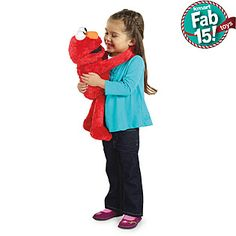 Big Elmo hugs-Addi would have absolutely loved this for a present!