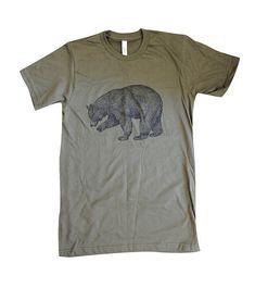 BEAR TShirt  Grizzly Bear California State Bear by friendlyoak, $18.00