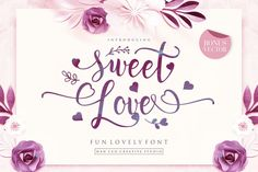 SWEET LOVE FONT — Sweet Love is a Fun and clean script font. This collection of scripts is perfect for personal branding. It was made with the intention of being used for gift products or quotes. Futhermore, this works well for many applications. Everything from personal branding & wedding invitations to advertising could benefit from this collection script fonts. Linux, Graphic Design Software, Script Logo, All Fonts, Cursive Fonts, Handwritten Fonts, Love Is Free, Premium Fonts, Personal Branding