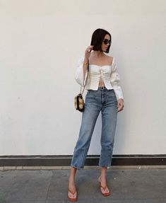Outfits Of The Week: July - Brittany Xavier Fashion Tv, Fashion Outfits, Spring Summer Fashion, Spring Outfits, Moda Instagram, Weekly Outfits, Celebrity Outfits, Aesthetic Clothes, Jeans Style