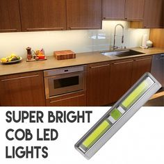 Wireless Super Bright COB LED Tap Light - Perfect for under cabinet lighting and more! - Batteries Included! 6+ and price drops to $4.89 each!  UNLIMITED FREE SHIPPING!