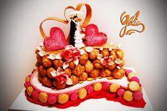 pièce montée choux nougatine coeurs macarons