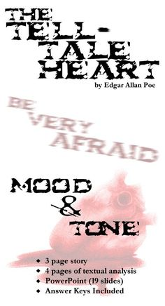 Any time is a good time for students to study Edgar Allan Poe ... but especially Halloween time! This terrifying mini-unit will get your students riveted to learning about mood and tone, plot, and textual analysis. They'll be digging in with both hands to dismantle this text and bury it beneath the floorboards of their minds. Okay, maybe that's too many metaphors, but you get the picture. They'll have fun and learn! :)  Fun Fact: Edgar Allan Poe's name is sometimes misspelled &qu