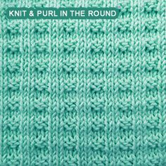 Broken Rib - knitting in the round Double Broken Rib - knitting in the round. Double Broken Rib - knitting in the round. Learn to crochet the bean stitch with this video tutorial. Baby Hat Knitting Patterns Free, Dishcloth Knitting Patterns, Knit Dishcloth, Knit Patterns, Stitch Patterns, Rib Stitch Knitting, Knit Purl Stitches, Scrubbies Crochet Pattern, Knit In The Round
