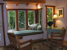 Reading Nook in Living Room | HUCKLEBERRY BEACH HOME, Cortes Island, BC, Canada