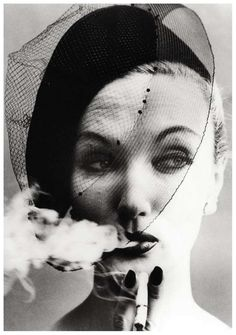 Smoke + Veil, Paris (Vogue) | From a unique collection of portrait photography at http://www.1stdibs.com/art/photography/portrait-photography/