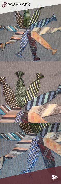 10 toddler neckties 10 cute toddler neckties  In great shape Perfect for casual or dressy  Smoke and pet free home  My prices are low so the best way to save will be to bundle multiple items Accessories Ties