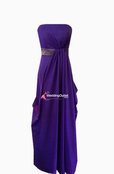 9612b551981 Amethyst Purple Strapless Bridesmaid dress and evening gown Style