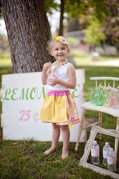Lemonade Stand Outfit by Sweet Threads Clothing Co, Birdie Baby Boutique and The Sweet Crush