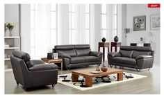 ESF Sofa 8049Description :This modern living room sofa has a quiet modern appeal which will easily blend with any contemporary home setting. Decorative stitching accents adorn that is wrapped in finest genuine Italian leather upholstery combined with the best designed leather match material applied to areas of minimal use. Full leather and several colors available for special ordering. (Loveseat, Table and Chair are optional).Materials:Genuine Full Leather FrontsGenuine Full Leather…