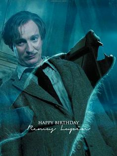 """ Happy Birthday Remus John Lupin 10 March, 1960 – 2 May, 1998 "" Lupin Harry Potter, Arte Do Harry Potter, Harry Potter Friends, Harry Potter Jk Rowling, Harry Potter Movies, Harry Potter World, Keanu Reaves, Remus Lupin, Lupin 10"
