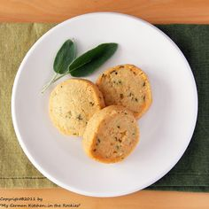 Savory Sage Parmesan Sables by Kirsten @ My Kitchen in the Rockies