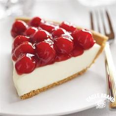 Try this recipe for Cherry Cream Cheese Pie from Eagle Brand® Sweetened Condensed Milk this Valentine's Day!